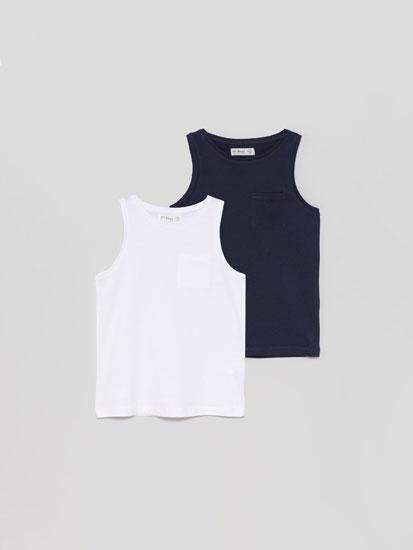 Pack de 2 t-shirts básicas de alças