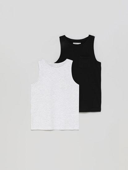 Pack de 2 camisetas básicas de tirantes