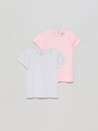 Pack de 2 camisetas básicas de manga curta