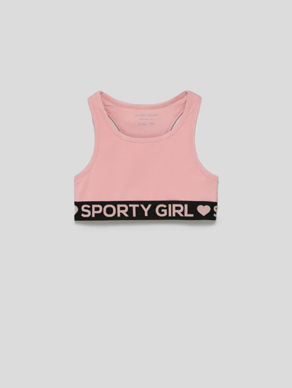 Sports top with slogan