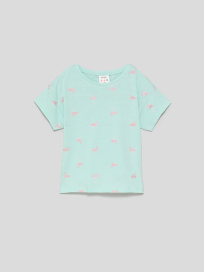 Short sleeve T-shirt with micro-print