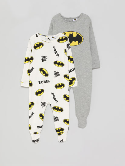 2-Pack of Batman ©DC sleepsuits.
