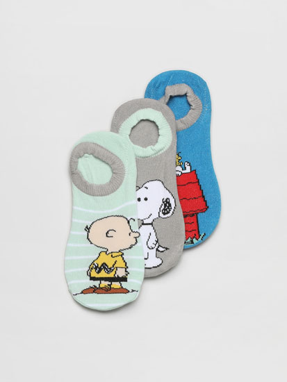 Pack de 3 pares de meias de tipo invisível Snoopy™ Peanuts™