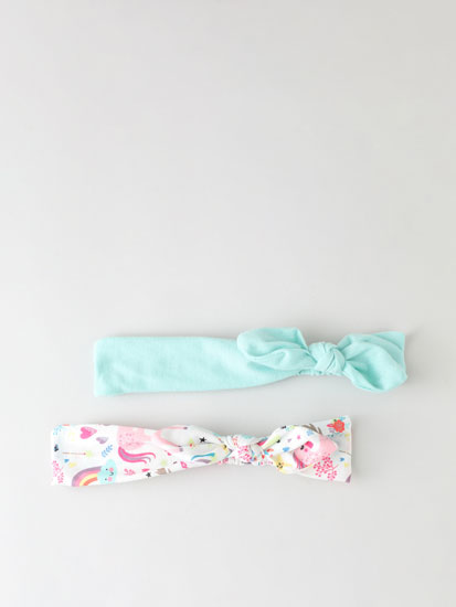 Pack of 2 bandanas with unicorns