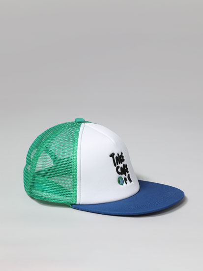 Cap with a baseball print