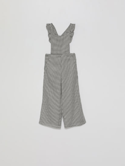 LONG HOUNDSTOOTH DUNGAREES
