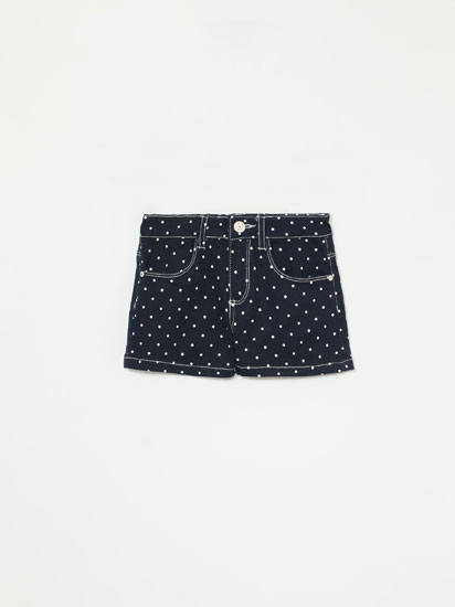 Basic shorts with printed twill