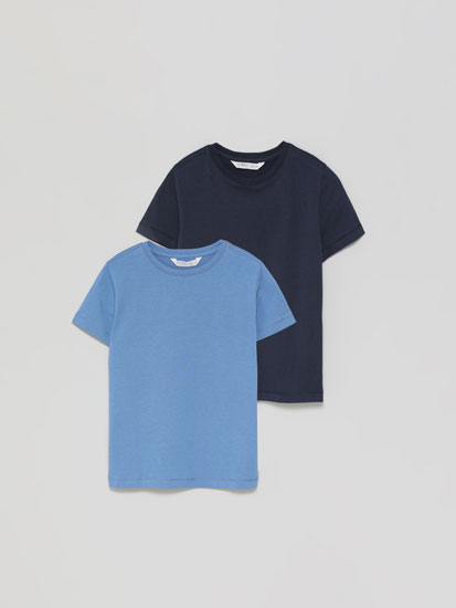 2-Pack of basic short sleeve T-shirts