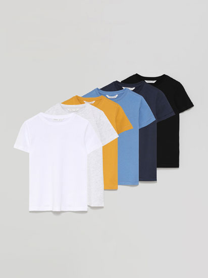 6-Pack of basic short sleeve T-shirts