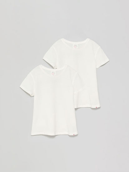 2-Pack of basic plain short sleeve T-shirts