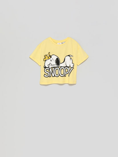 Camiseta cropped Snoopy™