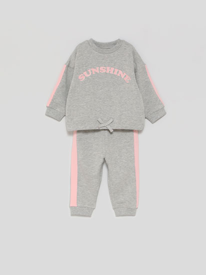Basic tracksuit top and bottoms