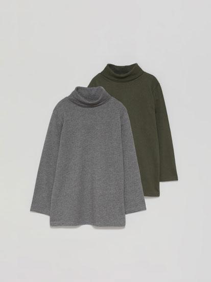 Paquet de 2 samarretes bàsiques de coll girat