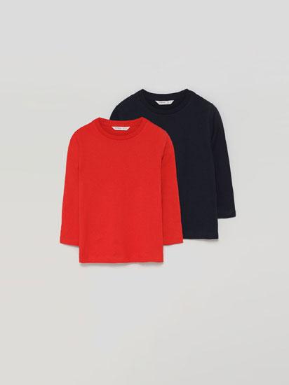 Paquet de 2 samarretes bàsiques de màniga llarga