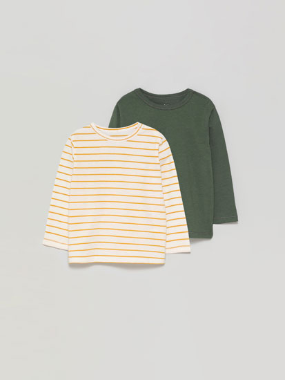 2-Pack of basic long sleeve T-shirts