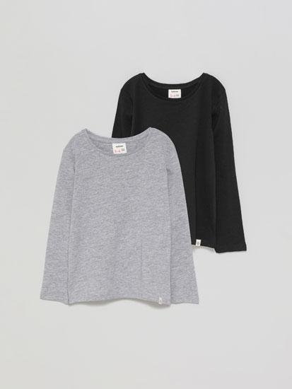Pack de 2 t-shirts básicas de manga comprida