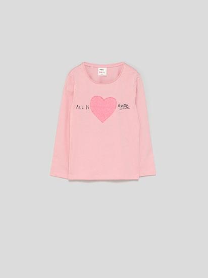Shiny print T-shirt