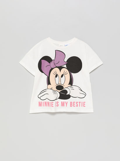Camiseta Minnie ®Disney con estampado brillante