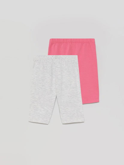 Pack of 2 pairs of basic capri leggings