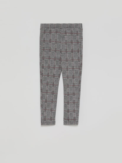 Ponte di Roma knit check leggings