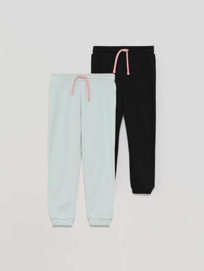 Pack de 2 pantalóns de chándal básicos