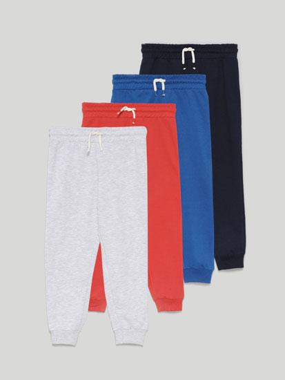 Pack de 4 Pantalones de Felpa Básicos