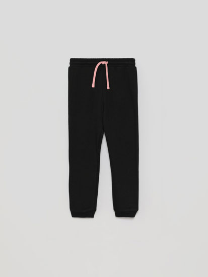 Plush jersey trousers