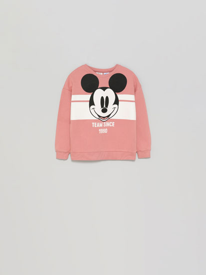 Mickey ©Disney sweatshirt with a shiny print