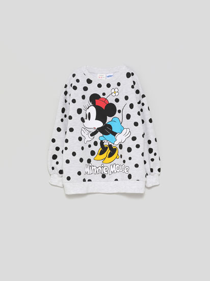 Minnie Mouse ©Disney sweatshirt with a polka dot print