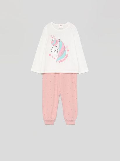 Shiny print pyjama set