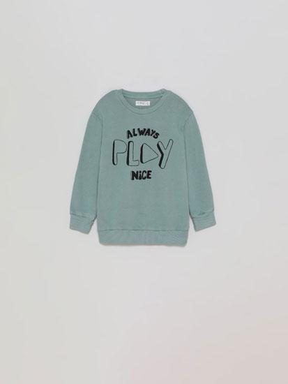 Sweatshirt básica com estampado