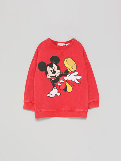 Mickey ©Disney faded-effect sweatshirt
