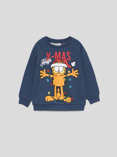 Garfield Christmas print sweatshirt