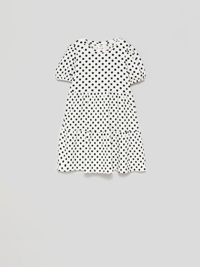 Rustic polka dot dress