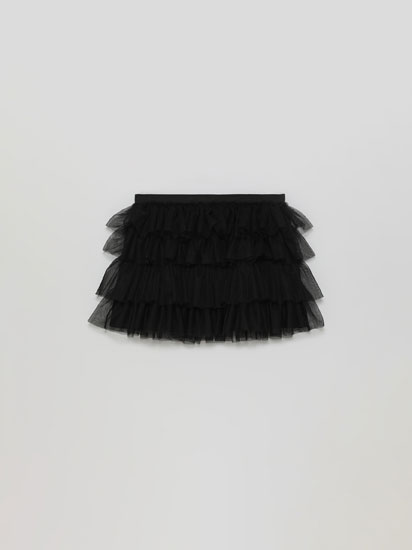 Tulle skirt with ruffles
