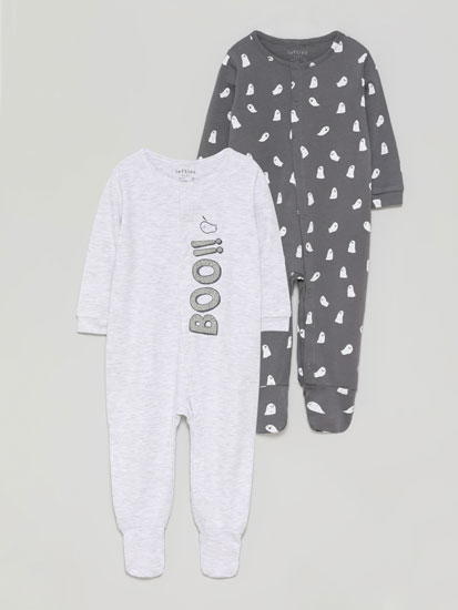 Pack of 2 sleepsuits with a ghost print