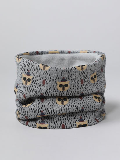 Bear print snood