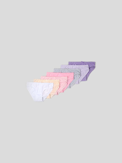 Pack of 7 pairs of basic coloured classic briefs