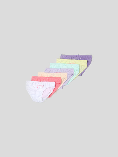 Pack of 7 pairs of classic briefs with days of the week print