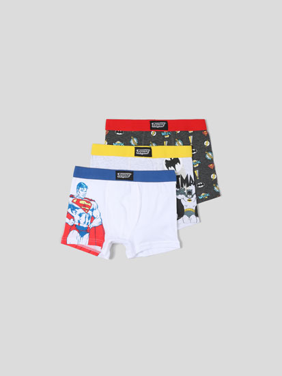 3-PACK OF THE JUSTICE LEAGUE ©TM DC COMICS BOXER BRIEFS