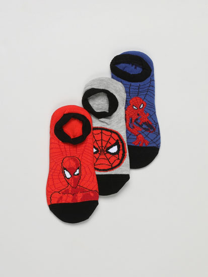 Pack de 3 pares de calcetíns invisibles Spiderman ©Marvel