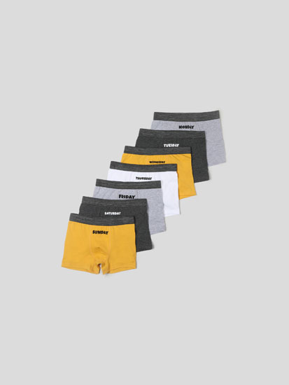 7-PACK OF BOXERS WITH DAYS OF THE WEEK PRINT