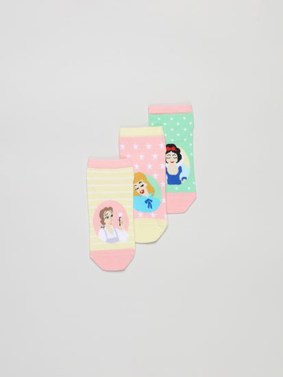 Pack of 3 pairs of Disney princess ankle socks