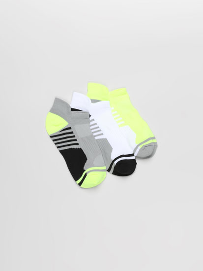 Pack de 3 pares de calcetines tobilleros deportivos