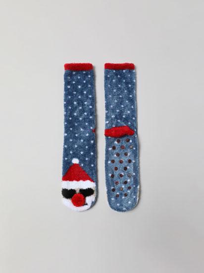 Par de calcetíns antiesvarantes de Papá Noel