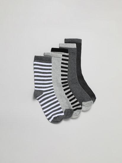 Pack de 5 pares de calcetines largos estampados