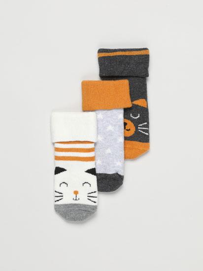 Pack de 3 pares de calcetíns longos con volta