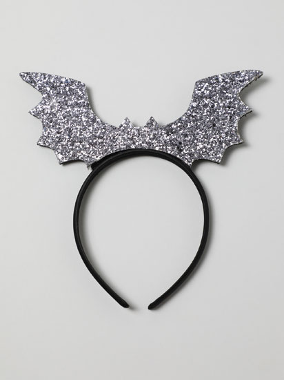 Shiny bat headband