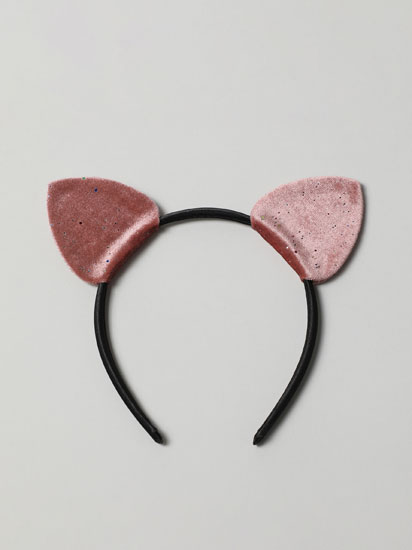 Bandolete com orelhas de veludo