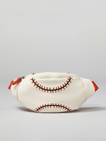 Baseball-effect belt bag
